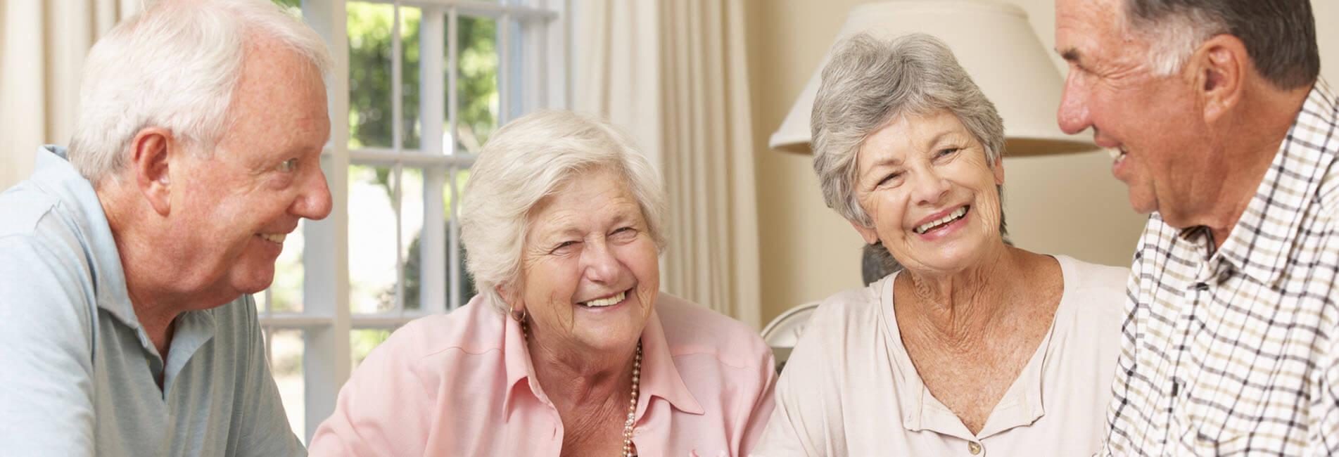 Elderly Friends Laughing